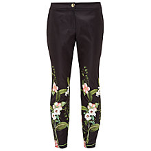 Buy Ted Baker Hadas Secret Trellis Skinny Trousers, Black Online at johnlewis.com