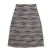Buy Warehouse Stripe Tweed Skirt, Blue Online at johnlewis.com