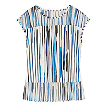 Buy Karen Millen Graphic Placement Print Top, Blue/Multi Online at johnlewis.com