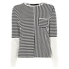 Buy Karen Millen Striped Jumper, Black/White Online at johnlewis.com