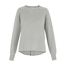 Buy Whistles Two In One Striped Knit Jumper, Pale Grey Online at johnlewis.com