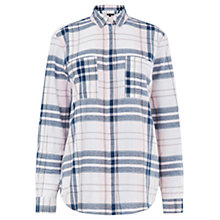 Buy Warehouse Pattern Casual Check Shirt, Blue Online at johnlewis.com