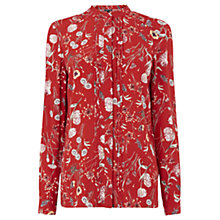 Buy Warehouse Scattered Floral Blouse, Red Online at johnlewis.com