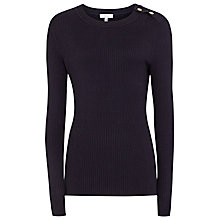 Buy Reiss Megana Button Shoulder Jumper, Night Navy Online at johnlewis.com