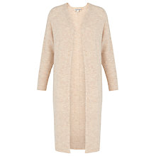 Buy Whistles Longline Knitted Cardigan, Oatmeal Online at johnlewis.com