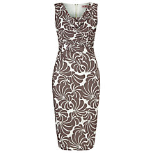 Buy Phase Eight Cath Floral Print Dress, Praline/Cream Online at johnlewis.com
