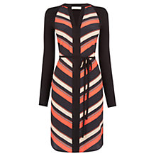 Buy Oasis Diagonal Stripe Shirt Dress, Multi Red Online at johnlewis.com