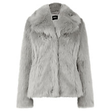 Buy Oasis Faux Fur Jacket, Grey Online at johnlewis.com