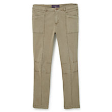 Buy Violeta by Mango Straight Cotton Trousers Online at johnlewis.com