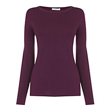 Buy Oasis Satin Trim Crew Neck Top Online at johnlewis.com