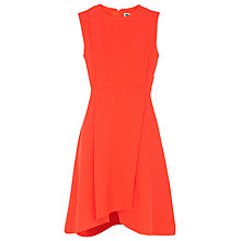 Buy Whistles Textured Asymmetric Hem Dress, Orange Online at johnlewis.com