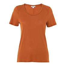 Buy Whistles Maye Seam Back T-Shirt, Rust Online at johnlewis.com