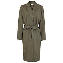 Buy Reiss Hattan Cupro Trench Coat, Pine Online at johnlewis.com