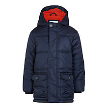 Buy John Lewis Boys' Fairway Longline Padded Jacket, Navy Online at johnlewis.com