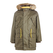 Buy John Lewis Boys' Olympian 3-in-1 Fashion Parka, Khaki Online at johnlewis.com