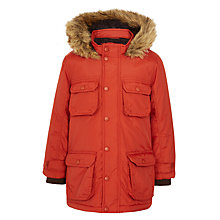 Buy John Lewis Boy Explorer Arctic Parka, Rust Online at johnlewis.com