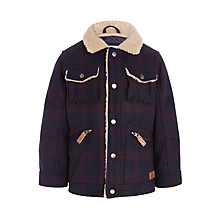 Buy John Lewis Boys' Check Lumber Jacket, Navy/Red Online at johnlewis.com