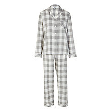 Buy John Lewis Box Check Pyjama Set, Grey Online at johnlewis.com