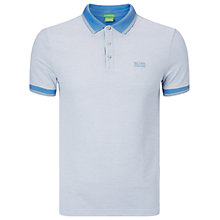 Buy BOSS Green Vito Polo Top, Medium Blue Online at johnlewis.com
