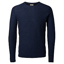 Buy Selected Homme Crew Neck Jersey Top, Blue Night Online at johnlewis.com
