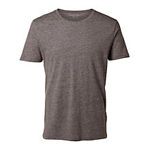 Buy Selected Homme Dave Pima T-Shirt, Fudge Online at johnlewis.com