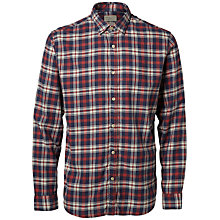 Buy Selected Homme Chadley Checked Shirt, Red/Navy Online at johnlewis.com