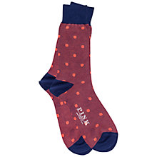 Buy Thomas Pink Ribbed Spot Socks Online at johnlewis.com