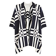 Buy Karen Millen Graphic Cape, Navy/White Online at johnlewis.com