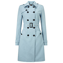 Buy Phase Eight Tabatha Trench Coat, Baby Blue Online at johnlewis.com