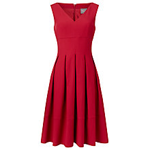 Buy Phase Eight Mary Pintuck Dress, Cherry Online at johnlewis.com