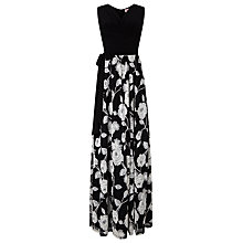 Buy Phase Eight Gwenda Lace Maxi Dress, Black/Stone Online at johnlewis.com