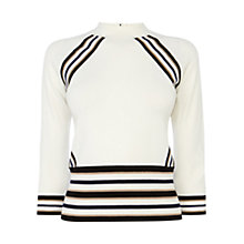 Buy Karen Millen Placement Stripe Jumper, Ivory Online at johnlewis.com