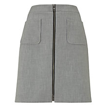 Buy Phase Eight Drue Zip Front Skirt, Grey Marl Online at johnlewis.com