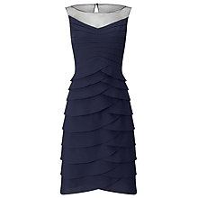 Buy Phase Eight Evelina Layered Dress, Navy Online at johnlewis.com