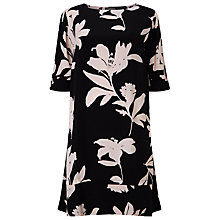 Buy Phase Eight Selina Floral Swing Dress, Black/Nude Online at johnlewis.com