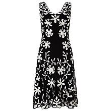 Buy Phase Eight Daisy Tapework Dress, Black/White Online at johnlewis.com