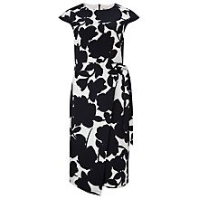 Buy Phase Eight Fleur Print Dress, Black/White Online at johnlewis.com