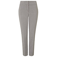 Buy Phase Eight Erica Basketweave Trousers, Ivory/Grey Online at johnlewis.com