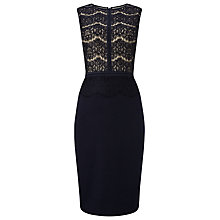 Buy Phase Eight Ivy Lace Dress, Navy Online at johnlewis.com