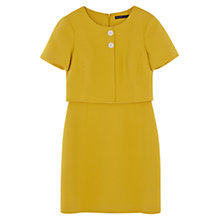 Buy Karen Millen Textured Mini Dress, Yellow Online at johnlewis.com