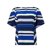 Buy Phase Eight Frida Stripe Blouse, Blue/Multi Online at johnlewis.com