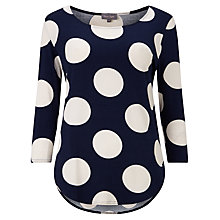 Buy Phase Eight Anna Spot Top, Navy/Ivory Online at johnlewis.com
