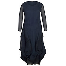 Buy Chesca Matt Crepe Crush Chiffon Flounce Crepe Dress, Navy Online at johnlewis.com