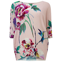 Buy Phase Eight Amelea Blossom Print Knit Jumper, Pink Online at johnlewis.com