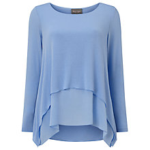 Buy Phase Eight Ciera Layered Top, Island Blue Online at johnlewis.com