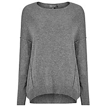 Buy Phase Eight Exposed Seam Jumper, Grey Marl Online at johnlewis.com