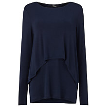 Buy Phase Eight Dita Double Layer Top, Navy Online at johnlewis.com