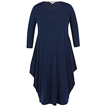 Buy Chesca Jersey Drape Dress, Navy Online at johnlewis.com