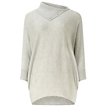 Buy Phase Eight Split Neck Becca Jumper, Silver Marl Online at johnlewis.com