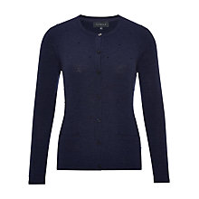 Buy Viyella Bobble Merino Wool Cardigan, Bluebird Online at johnlewis.com